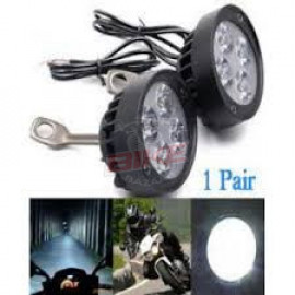 2PCS Super Light LED Motorcycle Headlight Bike Spotlight